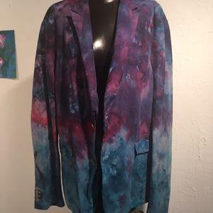 Other - Men's Tie Dye Blazer 46R Claiborne Silk/Cotton